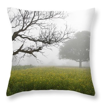 Skc 0058 Contrasty Trees Throw Pillow