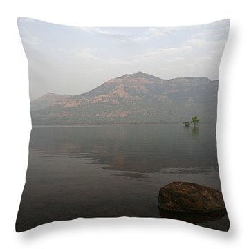 Throw Pillow featuring the photograph Skc 0084 The Rock Show by Sunil Kapadia