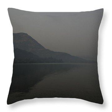 Throw Pillow featuring the photograph Skc 0086 Solitary Isolation by Sunil Kapadia