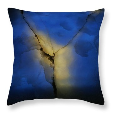 Skc 0243 Cracked Y Throw Pillow