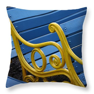 Throw Pillow featuring the photograph Skc 0246 The Garden Benches by Sunil Kapadia