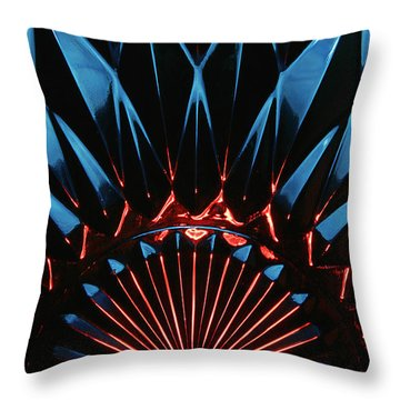 Throw Pillow featuring the photograph Skc 0269 Cut Glass by Sunil Kapadia