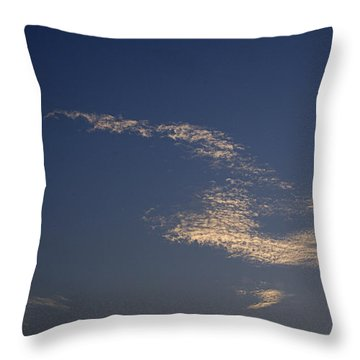 Throw Pillow featuring the photograph Skc 0353 Cloud In Flight by Sunil Kapadia