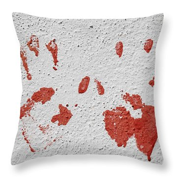 Throw Pillow featuring the photograph Skc 1058 Palm Impressions by Sunil Kapadia