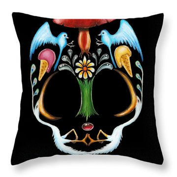 Skull 1 Throw Pillow by Eusebio Guerra