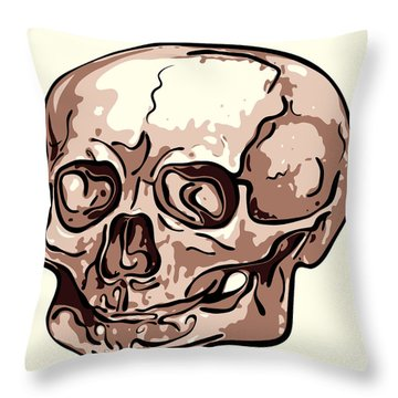 Skull Throw Pillow by Michal Boubin