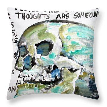 Skull Quoting Oscar Wilde.10 Throw Pillow by Fabrizio Cassetta