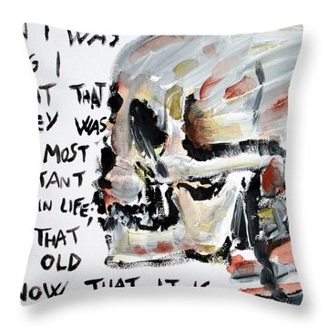 Skull Quoting Oscar Wilde.3 Throw Pillow by Fabrizio Cassetta