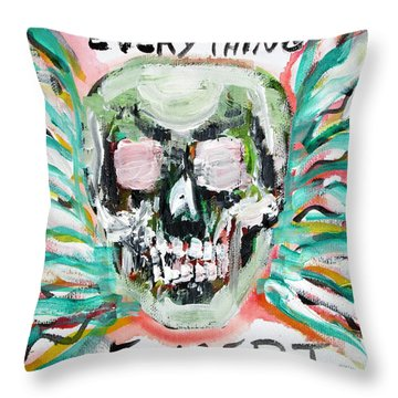 Skull Quoting Oscar Wilde.7 Throw Pillow by Fabrizio Cassetta