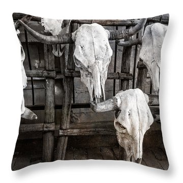 Skulls Of New Mexico Throw Pillow