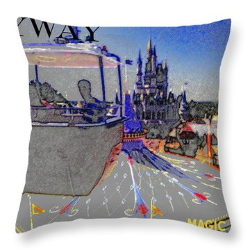 Skway Magic Kingdom Throw Pillow by David Lee Thompson