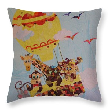Sky Adventurers Throw Pillow