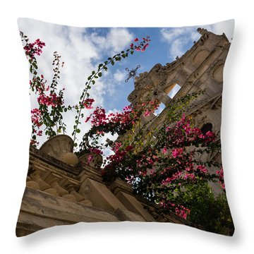 Throw Pillow featuring the photograph Sky Blossoms by Georgia Mizuleva