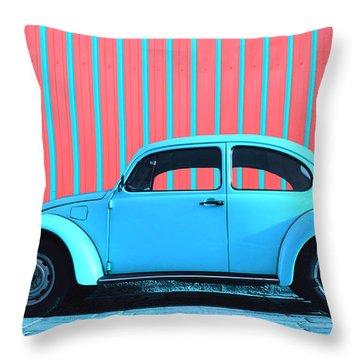 Sky Blue Bug Throw Pillow