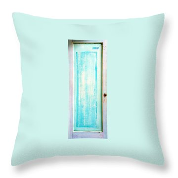 Sky Blue Entrance Entre Vous Throw Pillow by Asha Carolyn Young