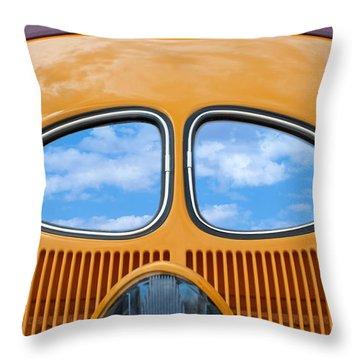 Sky Blue Eyes Throw Pillow