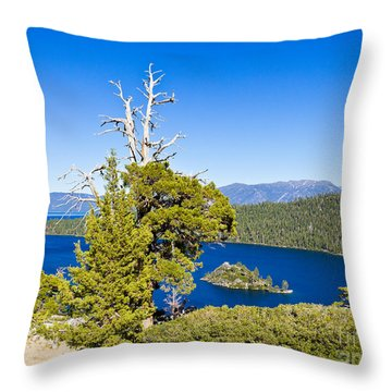 Sky Blue Water - Emerald Bay - Lake Tahoe Throw Pillow