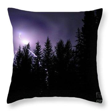 Sky Bolt Throw Pillow