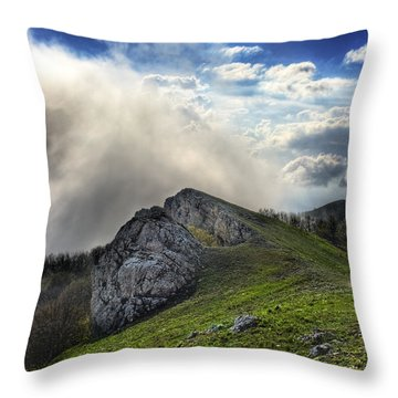 Sky Boundary Throw Pillow