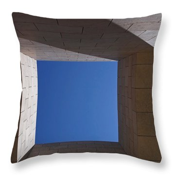 Sky Box At The Getty  Throw Pillow