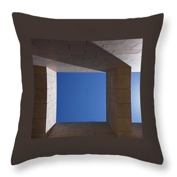 Throw Pillow featuring the photograph Sky Box At The Getty  by Rona Black