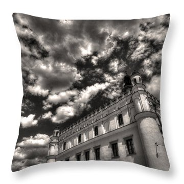 Throw Pillow featuring the photograph Sky Breaker In Black And White by Julis Simo