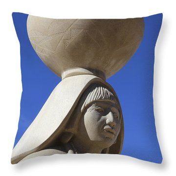 Sky City Cultural Center Statue 2 Throw Pillow