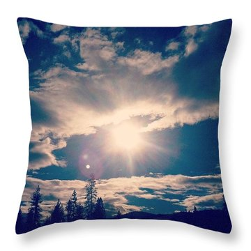 #sky #clouds #nature #trees #california Throw Pillow by Jennifer Beaudet