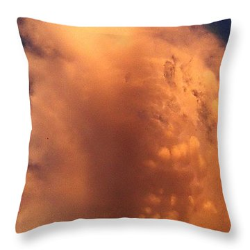 Throw Pillow featuring the photograph Sky Demon by Mikhail Savchenko