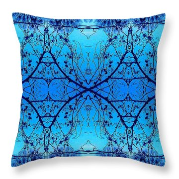 Throw Pillow featuring the photograph Sky Diamonds Abstract Photo by Marianne Dow