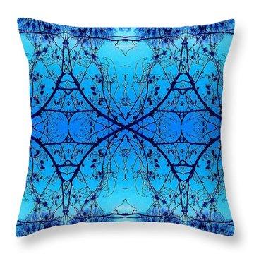 Sky Diamonds Abstract Photo Throw Pillow