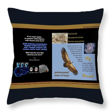 Sky Dying Throw Pillow