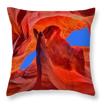 Sky Eyes In Antelope Canyon Throw Pillow