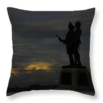 Sky Fire - 73rd Ny Infantry 4th Excelsior 2nd Fire Zouaves - Summer Evening Thunderstorms Gettysburg Throw Pillow by Michael Mazaika