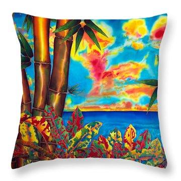 Sky Fire Throw Pillow