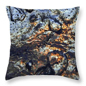 Sky Flakes Throw Pillow