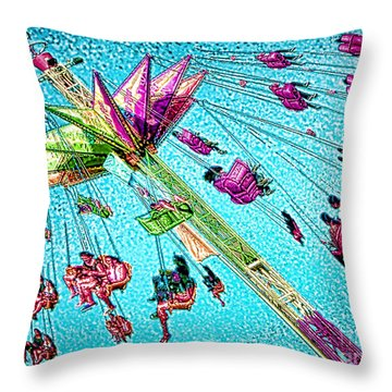 Throw Pillow featuring the digital art Sky Flyer by Jennie Breeze