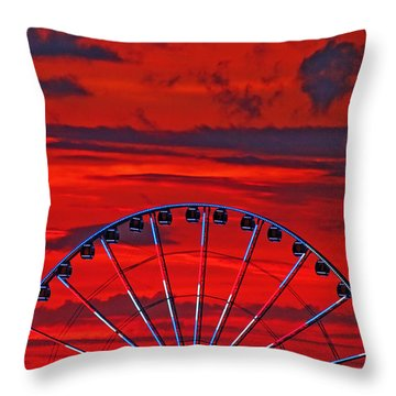 Throw Pillow featuring the photograph Sky High Sunset by Rowana Ray