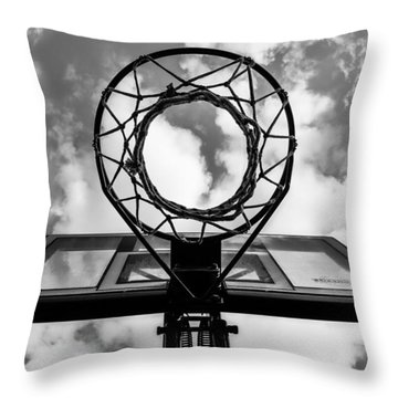 Sky Hoop Basketball Time Throw Pillow