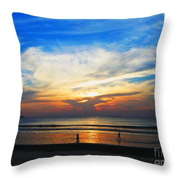 Sky Hues Throw Pillow