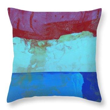 Sky Into The Sea Throw Pillow by Carol Leigh