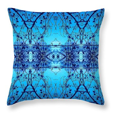 Throw Pillow featuring the photograph Sky Lace Abstract Photo by Marianne Dow