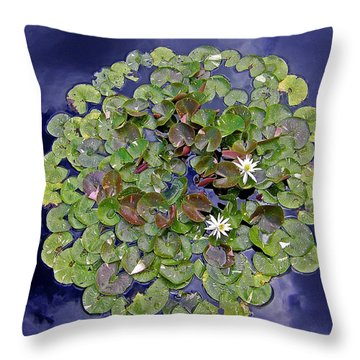 Sky Lilies Throw Pillow by Zafer Gurel