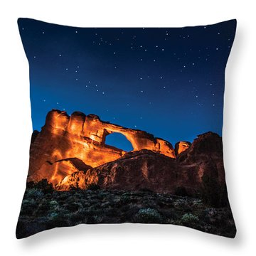 Sky Line Light Throw Pillow by Daniel Hebard
