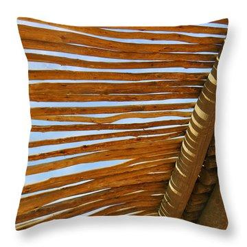 Sky-lined  Throw Pillow by Joy Hardee