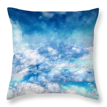 Sky Moods - A View From Above Throw Pillow