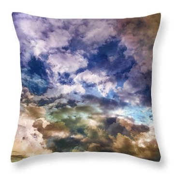Sky Moods - Sea Of Dreams Throw Pillow by Glenn McCarthy