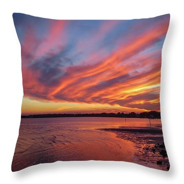 Sky On Fire Throw Pillow by Jane Luxton