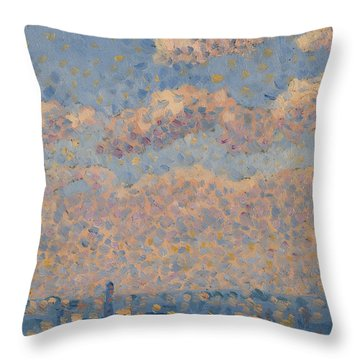 Sky Over The City Throw Pillow by Louis Hayet