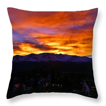 Throw Pillow featuring the photograph Sky Shadows by Jeremy Rhoades